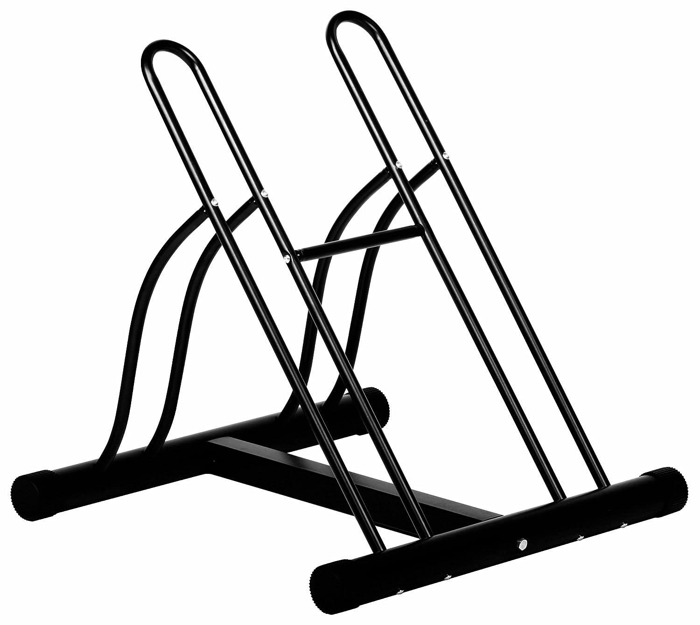 Ever Concept 2-Bike Floor Stand, Black Tubular Steel 02213