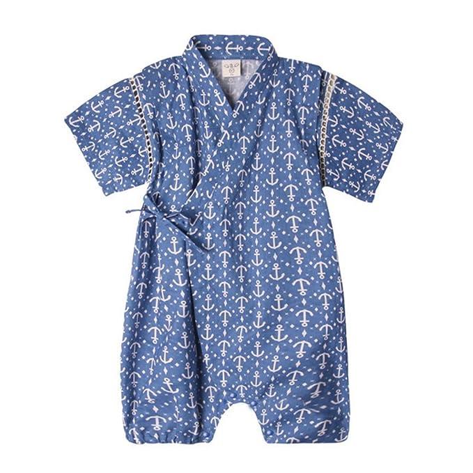 Amazon Com Pauboli Baby Romper Kimono Robe Cotton Japanese Pajamas