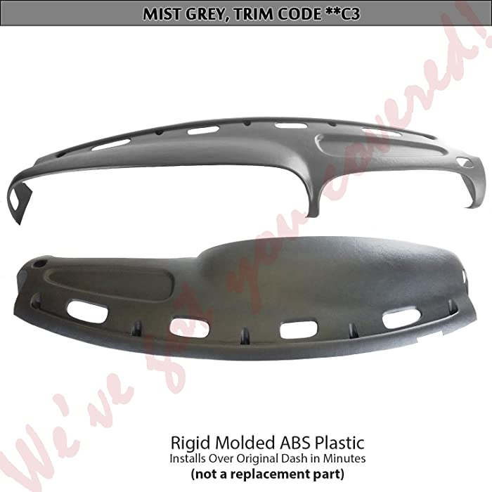 DashSkin Molded Dash Cover Compatible with 98-01 Dodge Ram in Mist Grey