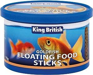 King British Goldfish Floating Food Sticks Complete Cold Water Fish 75g - Valentina Valentti UK