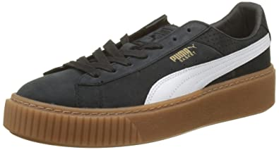 Amazon Platform Women's Puma Gum uk Trainers Shoes Basket Perf co nwpwYCfq