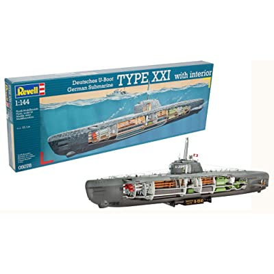 Revell 05078 U-Boat XXI Type w. Interieur Model Kit: Toys & Games