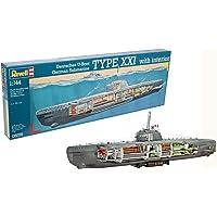 Revell Maqueta Submarino alemán Type XXI con Interior