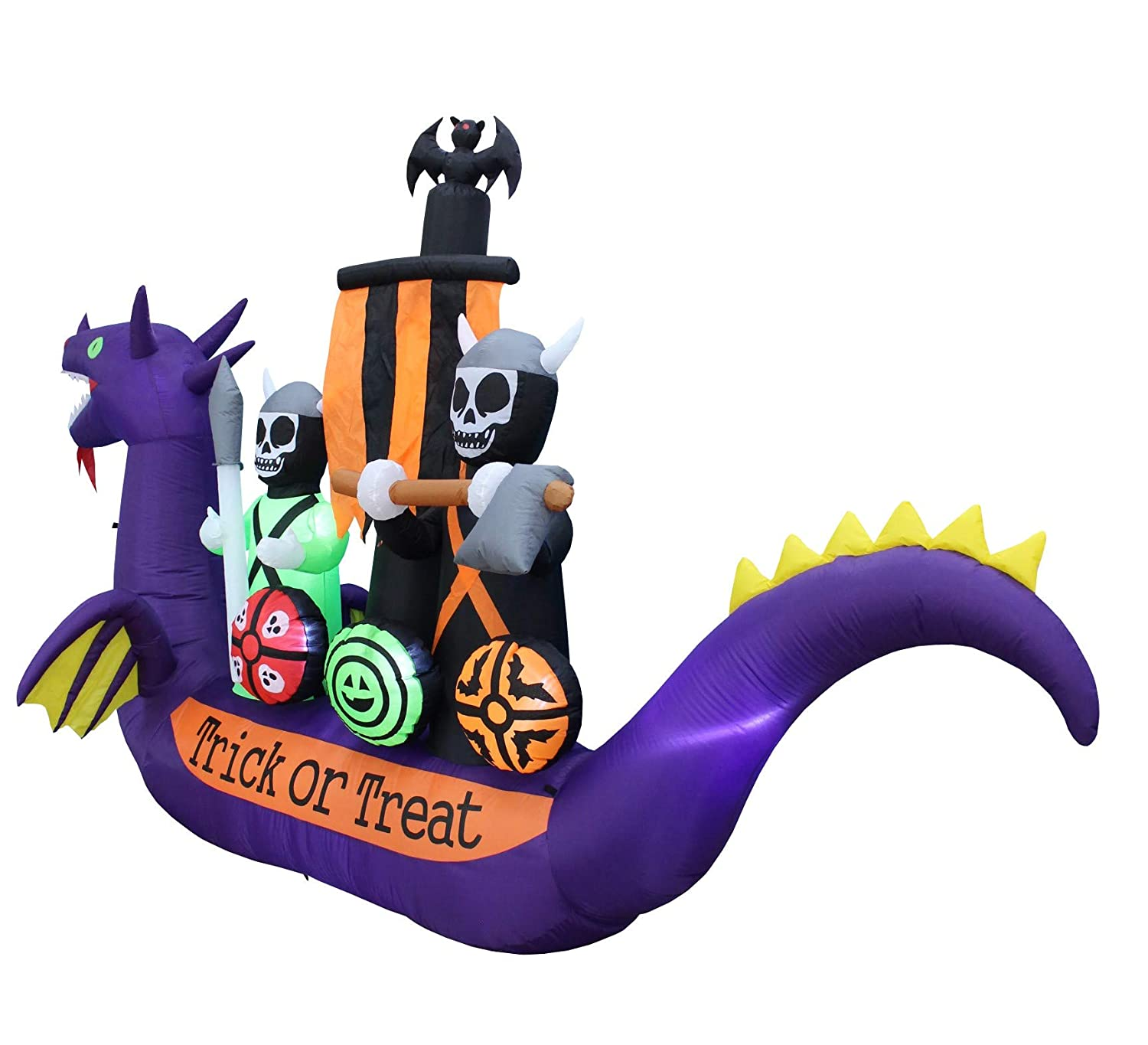 Amazon.com: BZB Goods 11 Foot Long Halloween Inflatable Dragon ...