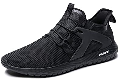 cef8ad19df ONEMIX Slip-On Running Shoes Men Lightweight Cushioning Casual Sneakers:  Buy Online at Low Prices in India - Amazon.in