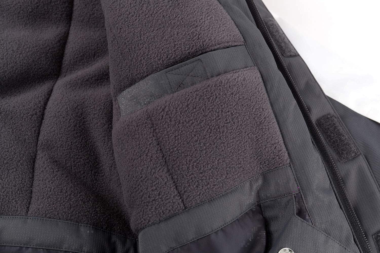 YINGJIELIDE Boys Waterproof Ski Jacket Kids Outdoor Windproof Fleece Lined Hooded Winter Coat