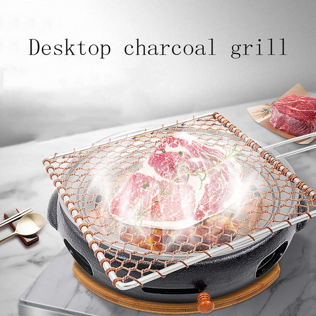 Guoguocy Grills électriques Barbecue, Fonte Barbecue au Charbon, Ménage Barbecue Charbon Pot, Barbecue Commercial coréen Grill, 8 Styles (Color : B) C