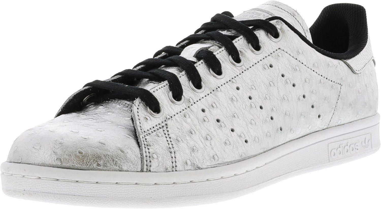 Adidas Uomini Stan Smith / Calzature Bianco Argento Metallico