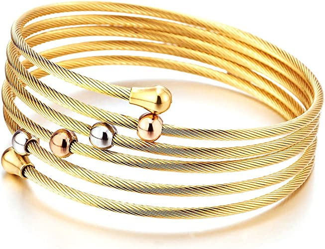on sale Gold Tone with Silver Insert Clamper Bracelet 8 Inch Bracelet Vintage Bracelet