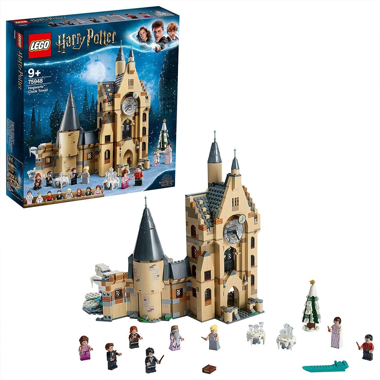 LEGO 75948 Jouet de tour de l'horloge du château Harry Potter à Poudlard, compatible avec les ensembles de la grande salle et du saule saillant
