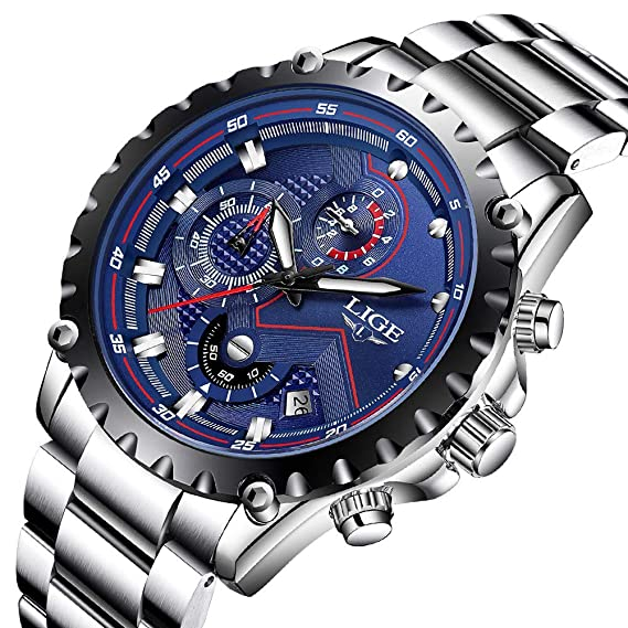 Amazon.com: Reloj de pulsera para hombre de LIGE, de lujo ...