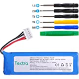 Tectra High Capacity Replacement Battery + Tool for JBL Flip 4, Flip 4 Special Edition, Fits for JBL GSP872693 01 (Li…
