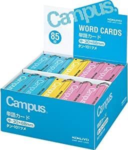 Six Copies of 12 Books Each Yellow, Pink, Blue Card Assortment in Word