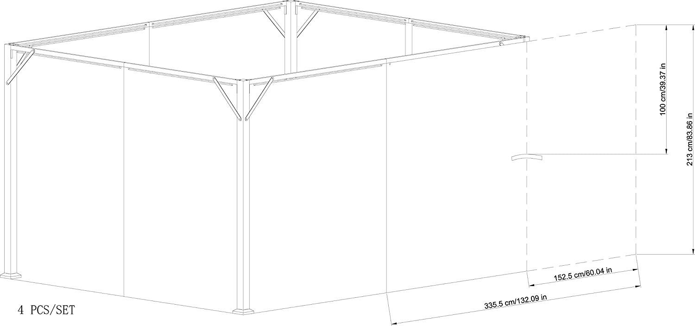 Sunjoy 110109119 10 x 12 Monterey Gazabo privacidad Panel ...