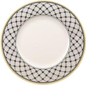 Villeroy & Boch Audun Promenade Dinner Plate, 10.5 in, White/Gray/Yellow
