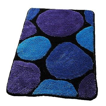 Tappeto, Alfombra Peluda De Estilo Moderno ,Alfombra Suave Tacto Grueso Calidad Densa 15 Mm Pila Home Floor Fluffy Rectangular - Azul (Tamaño : 60x90cm): ...