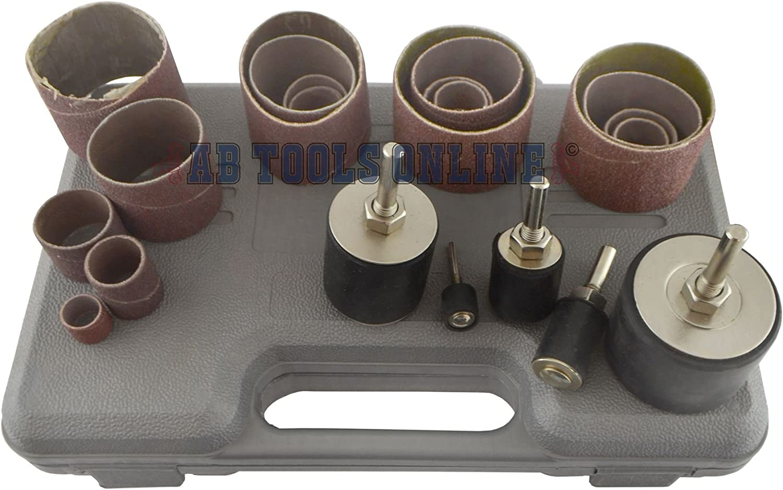 26PC mit Zylinder 13,19,25,38,50mm broche rotative 80 /& 120 Grit bei TE890