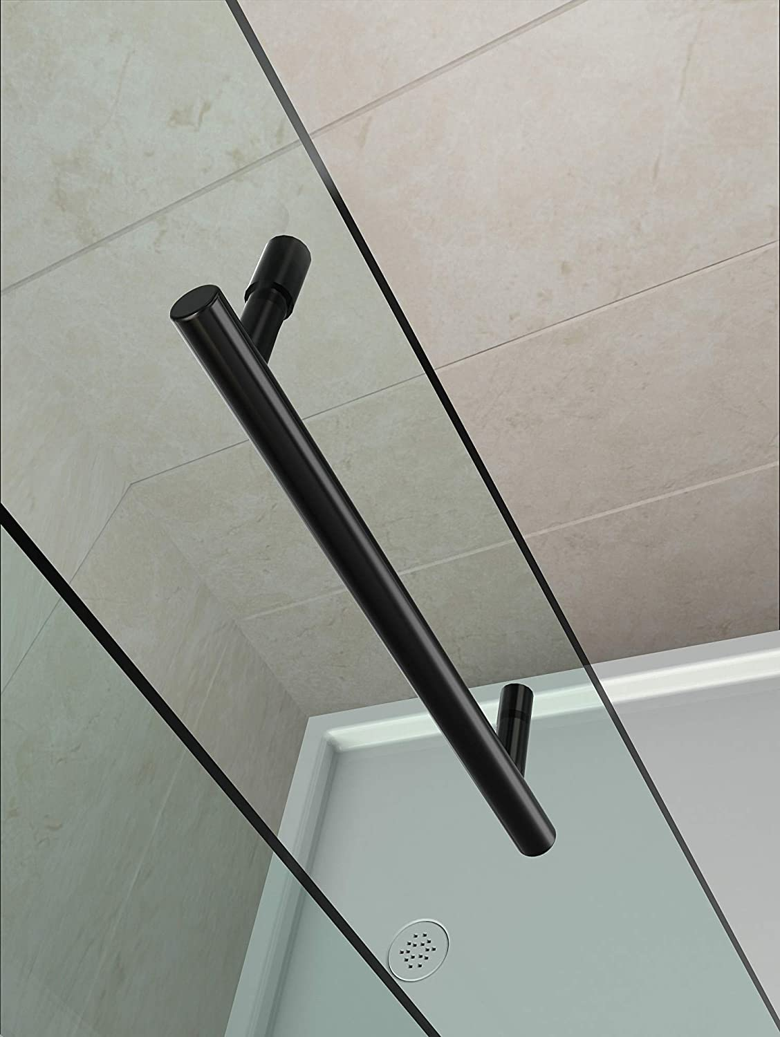 Aston Avalux Gs Completely Frameless Shower Enclosure With Glass Shelves 48 X 36 X 72 Oil Rubbed Bronze Amazon Com