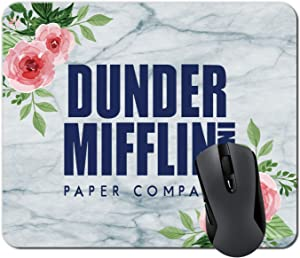 Dunder Mifflin Mouse Pad Mat Marble Background