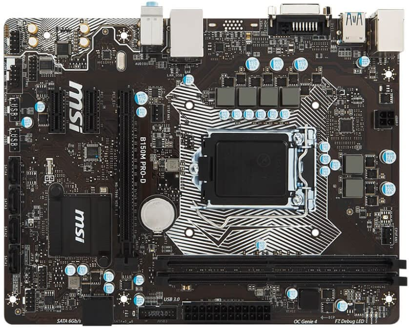 MSI B150M PRO-D Intel B150 Socket 1151 mATX Motherboard w/DVI, Audio & GbLAN (Renewed)