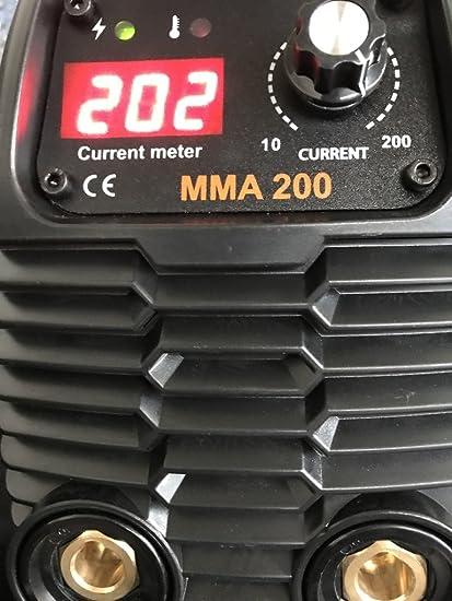 Soldadura ad Inverter 200 A welditalia maletín Cables 3 + 2 mt. Máscara No Telwin