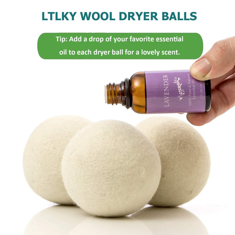 Dryer Balls Laundry Wrinkle Fabric Balls for Dryer Natural Dryer Softener Oil Dryer for Home Gift Set (6 PACK -2.9'') by LTLKY (Image #5)