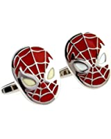 NexgenCover I Love Dad Cufflinks Hero Cuff-links Red Black Cufflinks (Spiderman Super Hero Rad Cufflinks)