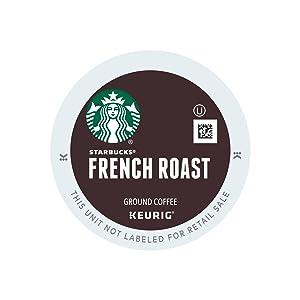 Starbucks French Roast Dark Coffee K-Cups 24ct (Pack of 4)