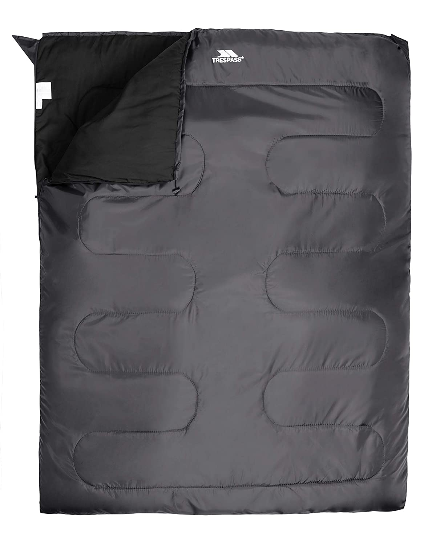 Trespass Catnap Sac de Couchage Unisexe 3 Saisons Taille Unique Hydrofuge 180 x 140 cm Granit