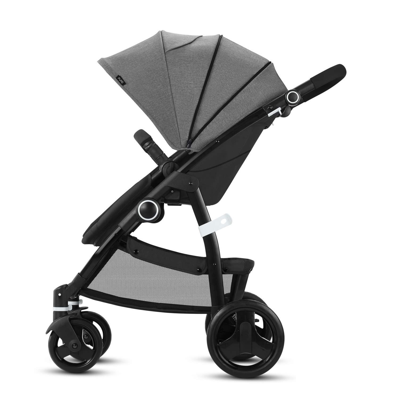 incluye cubierta para lluvia Cbx Leotie Pure desde el nacimiento hasta los 15 kg Comfy Grey Cochecito con asiento reversible y capazo para reci/én nacidos