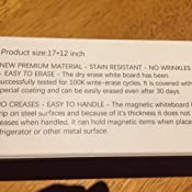 Amazon.com: Prefer - Goma de borrado en seco magnética verde ...