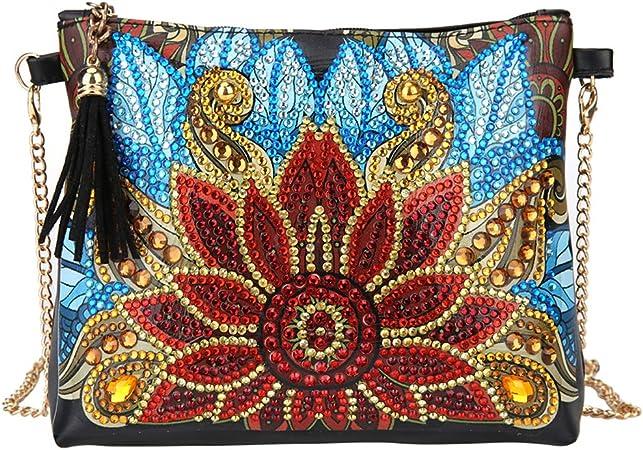 Museourstyty borsa a tracolla con fiori fai da te 5D Diamond