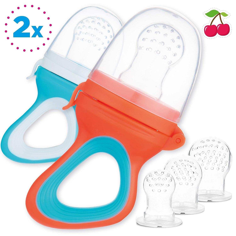 2 Chupetes Frutas para Bebés y Niños Pequeños + 6 Tetinas de ...