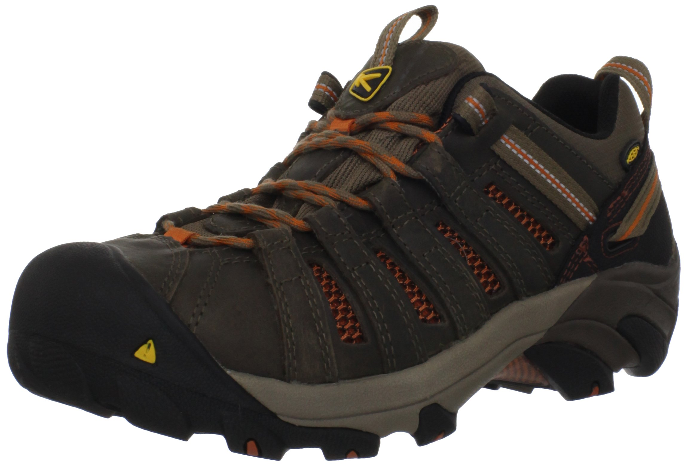 KEEN Utility Men's Flint Low Steel Toe Work Shoe, 10.5D, Shitake Brown/Rust by KEEN Utility