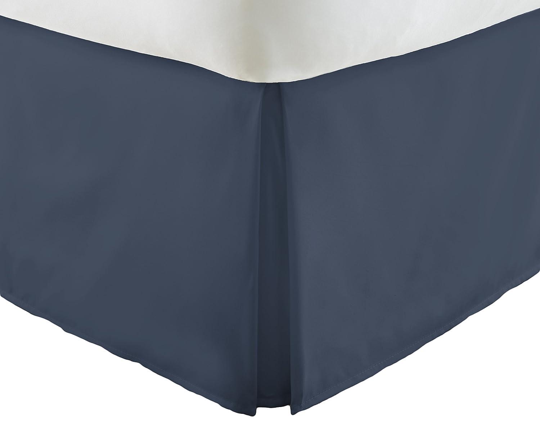 単にソフトプレミアムプリーツベッド用フリル付きスカートDust フル ブルー SS-BEDSKIRT-FULL-NAVY B075GHRJ7D フル|ネイビー ネイビー フル