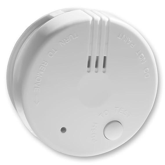 2X Detector de Humo Nemaxx Mini-FL2 Mini Detector de Fuego y Humo Detector con batería de Litio de Acuerdo con la Norma DIN EN 14604 + Nemaxx Pad de ...