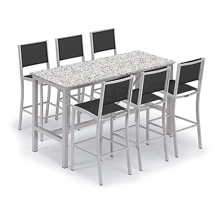 Amazon.com: Oxford Garden Travira 7 Piece Aluminum Patio Bar ...
