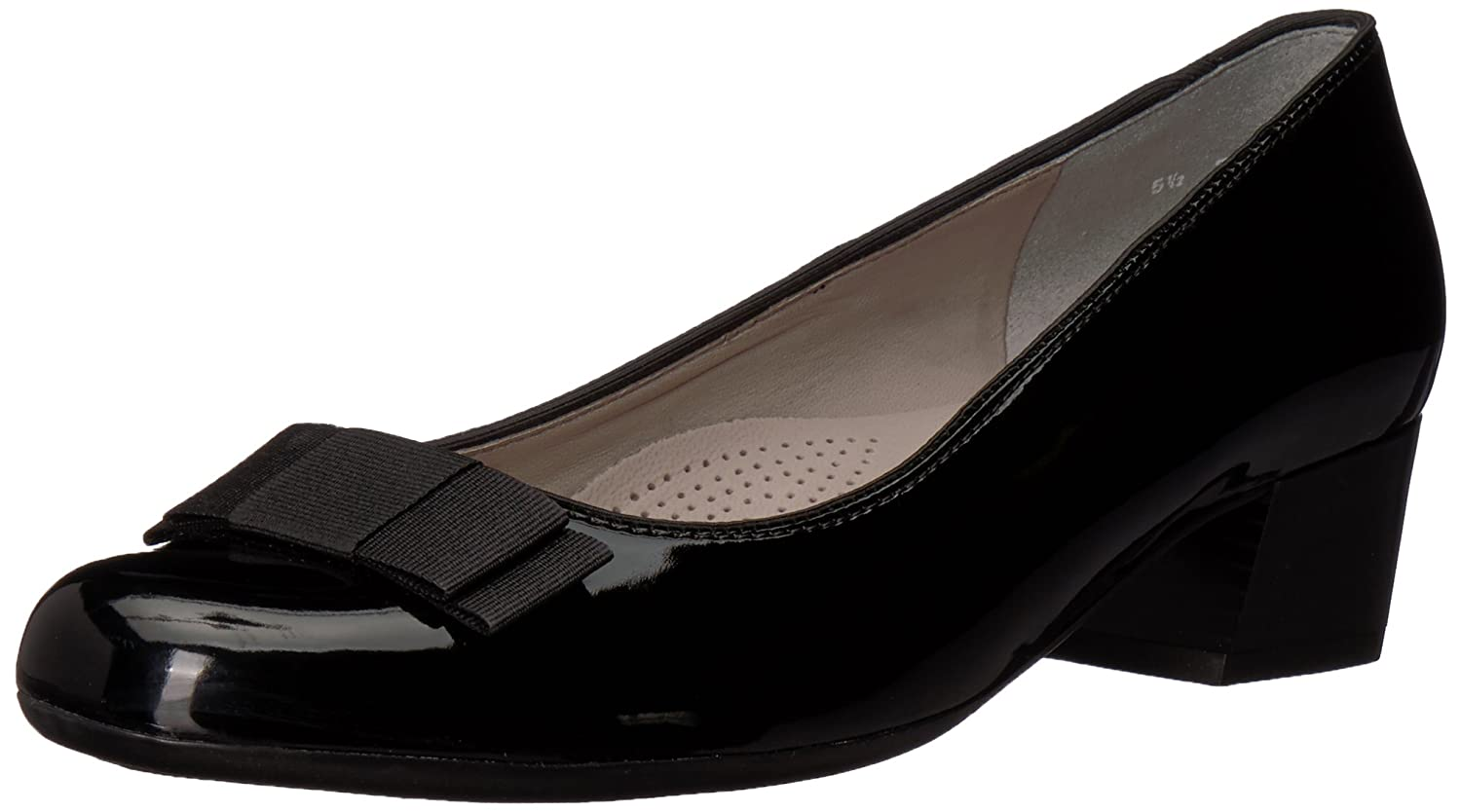 ara Women's Nisha Pump B07764SW8G 6.5 Wide UK (9 US)|Black Patent