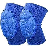 Tesyyyke - Rodilleras Gruesas para balón de fútbol, Voleibol, Ciclismo y Deportes (1 par)