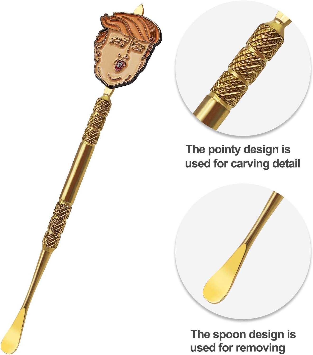 Trump Toy Gift Stainless Steel Wax Sculpting Tool Gold) 2 Pack 4.7 Inch Wax Carving Tool