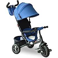 HOMCOM 3 EN 1 Triciclo para Niños +18 Meses Triciclo con Pedales con Capota Extraíble Plegable Barra Telescópica para…