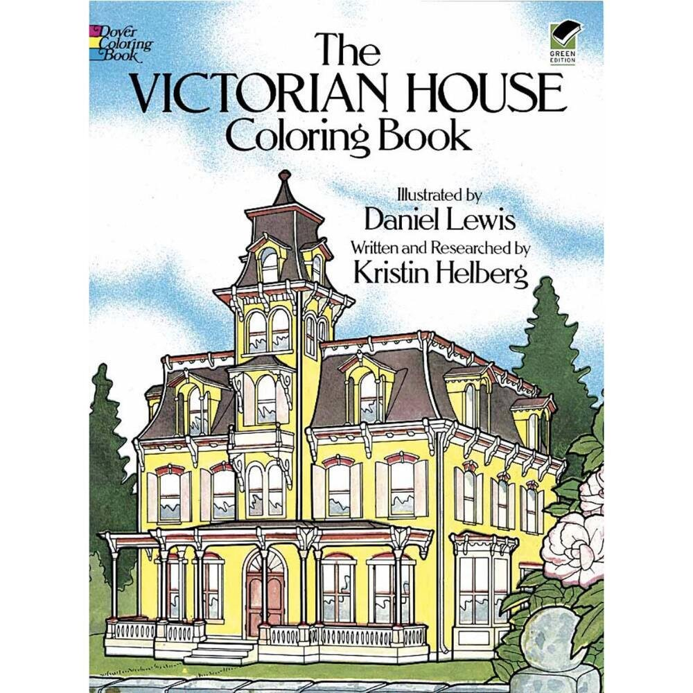 amazon com the victorian house coloring book childrens drawing