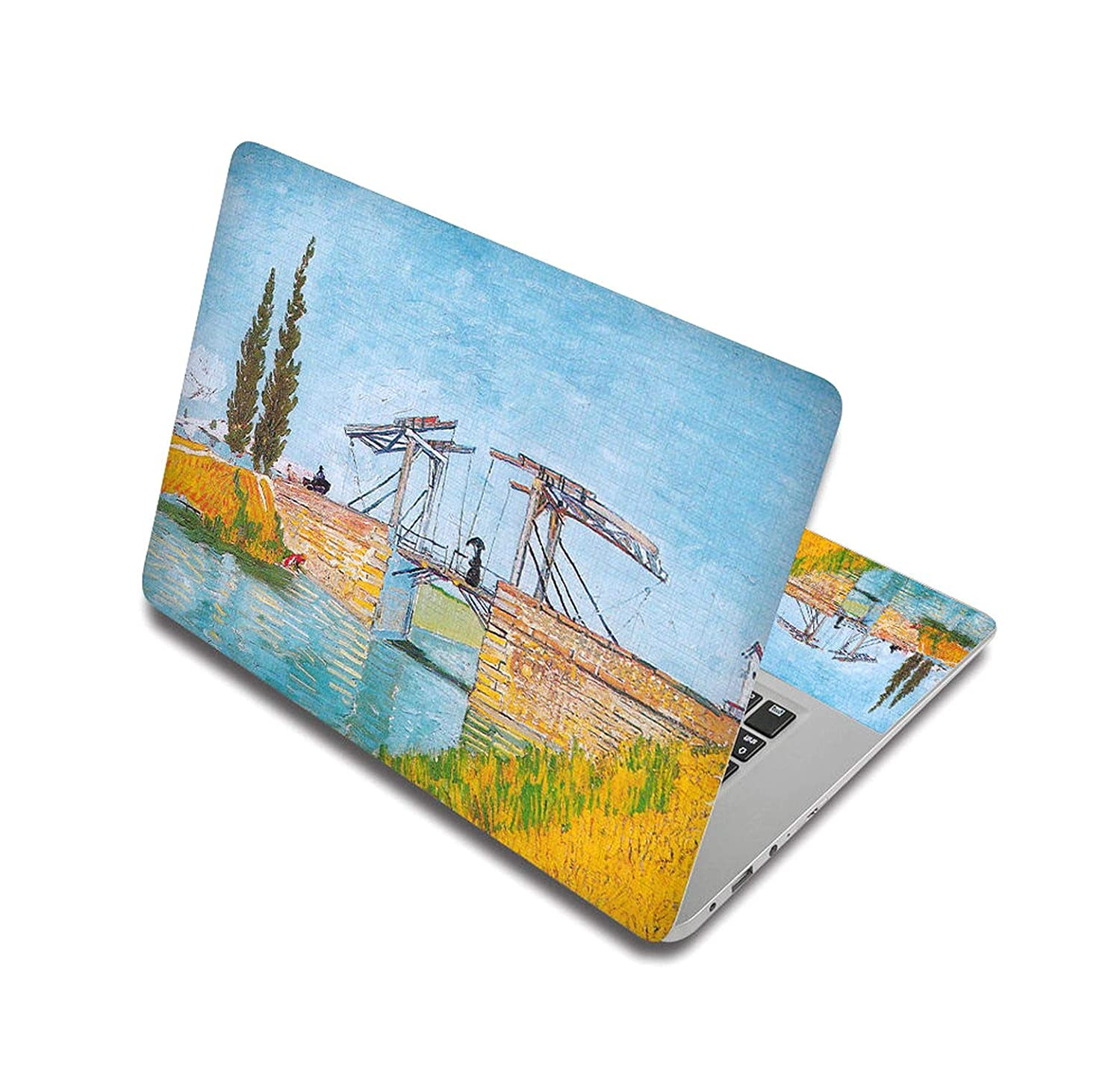 Oil Painting Style Stickers For Laptop Skin Notebook Decal Computer Sticker For Lenovo/Hp/Asus/Mac Air,15 Inch(38x27cm),Laptop Skin 4