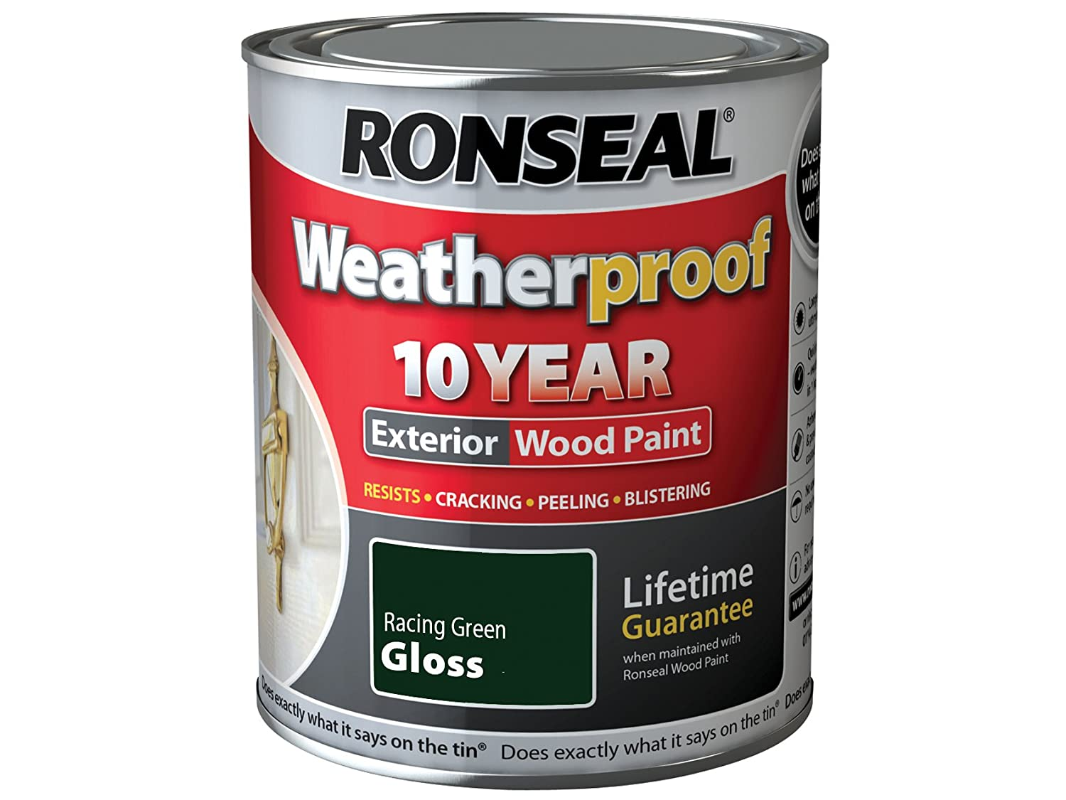 Attractive Ronseal RSLWPRGG750 750 Ml Weatherproof Exterior Wood Paint   Racing Green  Gloss: Amazon.co.uk: DIY U0026 Tools Part 5