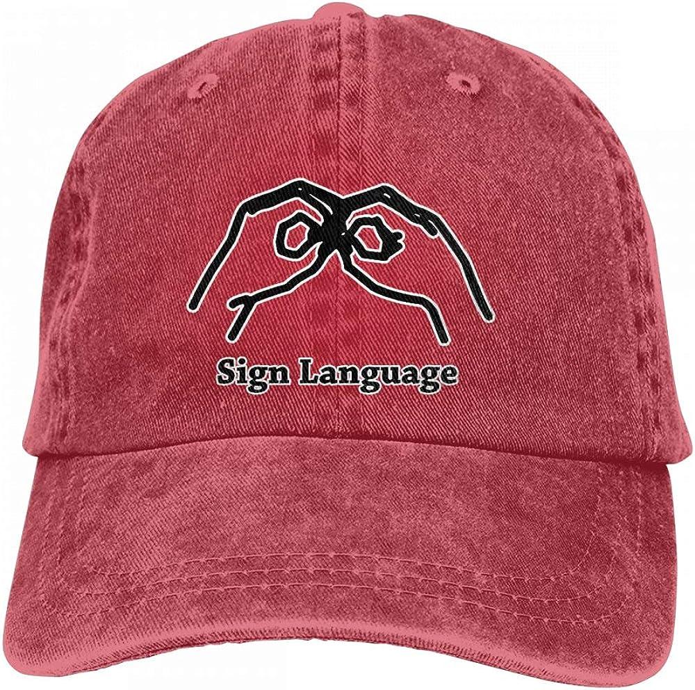 Best4U/&Me Unisex Vintage Washed Dad Hat Learning Sign Language Cool Adjustable Baseball Cap