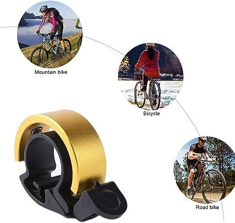 Triciclo e Mountain Bike Bici da Strada BMX con Suono Forte e Chiaro JIASHA Mini Campanello per Bicicletta MTB in Lega di Alluminio per Scooter Cruiser