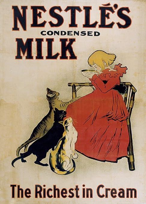 Vintage café, tés y bebidas calientes Nestlé leche condensada, 189,4 por Theophile