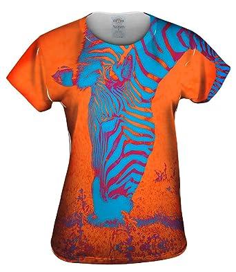 Amazon Com Yizzam Neon Orange Zebra Tshirt Womens Shirt Clothing