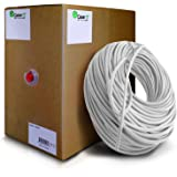 GearIT 1000 Feet Bulk Cat6 Ethernet Cable - Cat 6e 550Mhz 24AWG Full Copper Wire UTP Pull Box - In-Wall Rated (CM) Stranded Cat6, White
