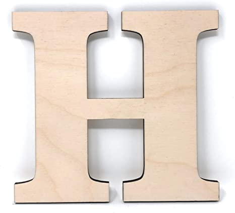 Gocutouts 12 Wooden Letter E Unfinished 1//4 Wooden Letters Paint Ready Unfinished Wall Decor Craft Cutout 12-1//4 Thick, E